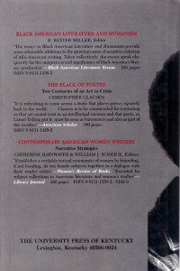GWENDOLYN BROOKS back cover